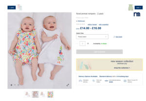 baby modelling for mothercare