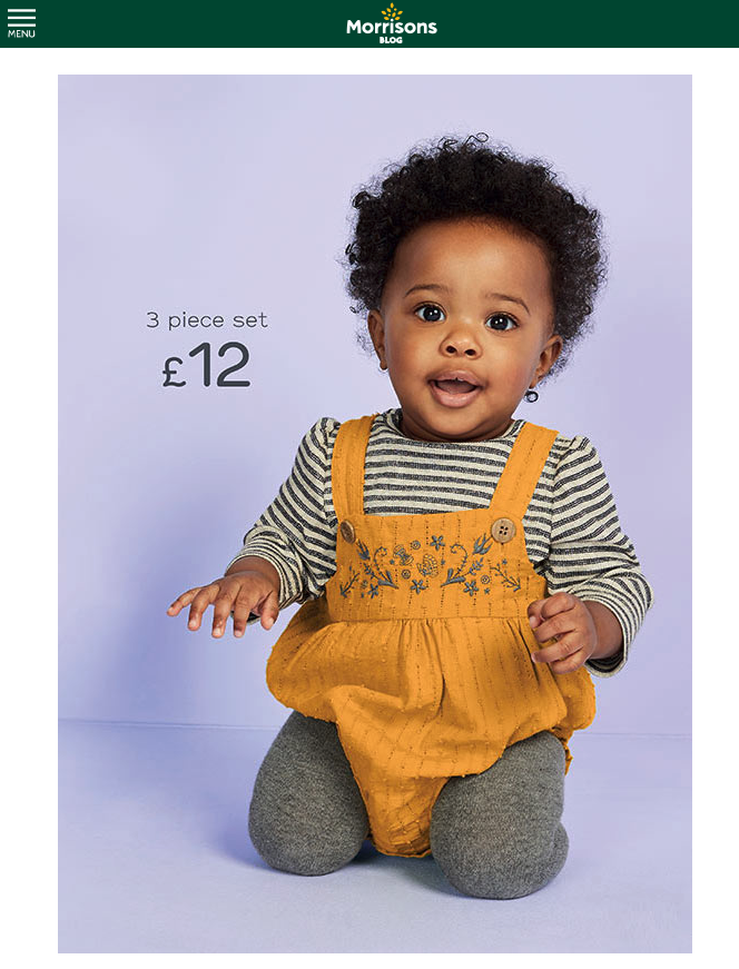 baby modelling for Nutmeg