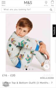 M&S Child Model