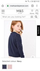Freya modelling for Marks and Spencers