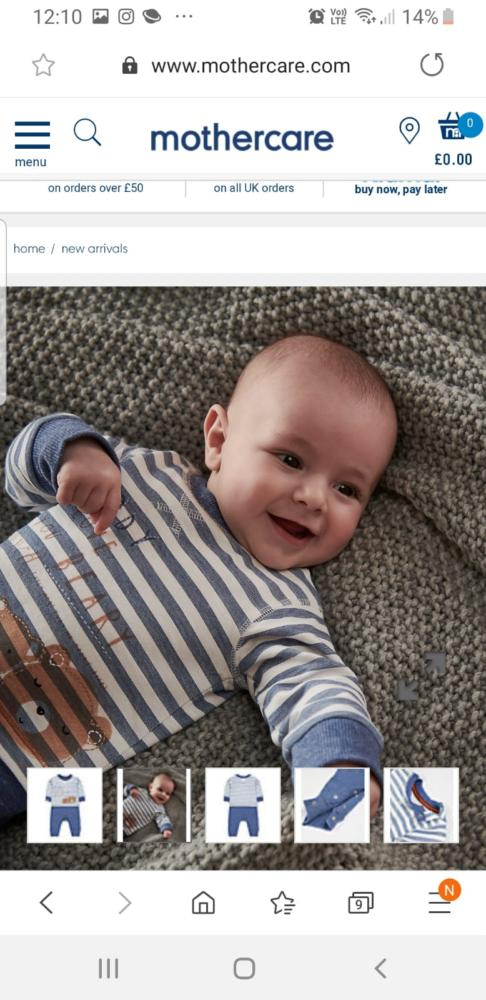 Baby Model for Mothercare