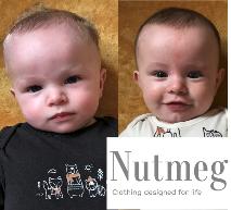 Babies modelling for nutmeg